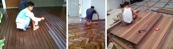 Proyek Pemasangan lantai kayu indoor