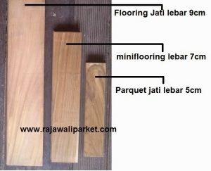 Mini flooring lantai kayu Jati