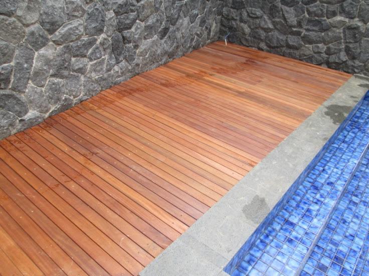 Decking kayu bengkirai untuk outdoor