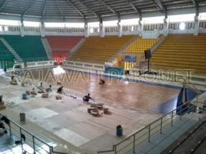 Kayukuparquet lapangan basket C-TRA ARENA Bandung