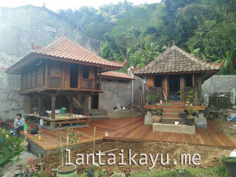 Decking kayu Bengkirai Villa begudul grace bali