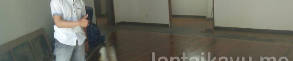 lantai kayu merbau villa leon candibasa bali