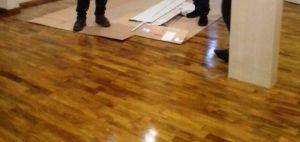 Jual lantai kayu solid bontang