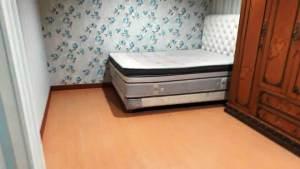 lantai kayu kamar tidur terpasang
