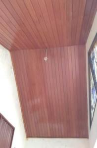 plafon kayu keruing