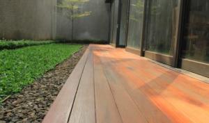 lantai kayu decking taman